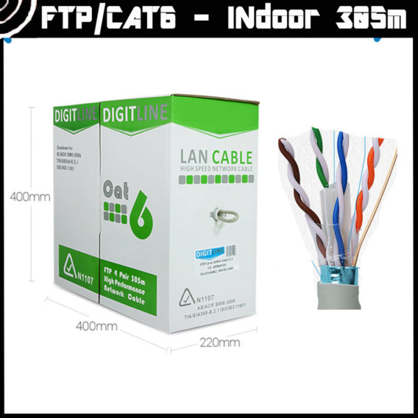 CAT 6 Cable: DigitLine BOX FTP 6 (indoor) [305m] 2