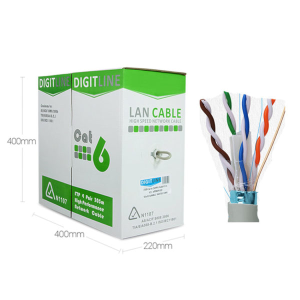 CAT 6 Cable: DigitLine BOX FTP 6 (indoor) [305m] 1