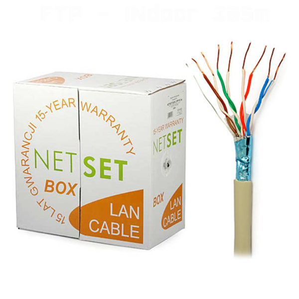 CAT 5e Shielded Cable: NETSET F/UTP 5e [305m], indoor 1