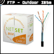 Cat5e Shielded Cable: NETSET BOX F/UTP 5e [305m], outdoor 2