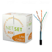 Cat5e Shielded Cable: NETSET BOX F/UTP 5e [305m], outdoor 1
