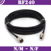 Patch cables N/m-N/f – RF240 – 50ohm 2