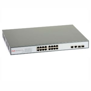 PoE Switch: ULTIPOWER 2216af (16xRJ45/PoE-802.3af, 2xRJ45-GbE/2xSFP), managed