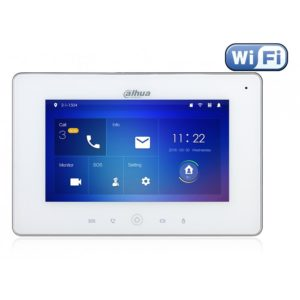 """Dahua VTH5221DW Color Indoor Monitor 7"""", IP, WiFi, White"""