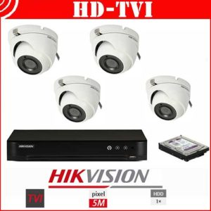 Videosecurity Kit HD-Tvi Hikvision - 4ch - 5MPX - Dome