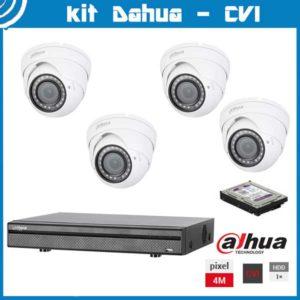 Videosecurity Kit HD-Cvi Dahua - 4ch- Dome - 4mpx - IR 30m - 2,8-12mm