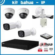 Videosecurity Kit Dahua IP - 6ch- 2xDome+2xBullet + 2xWifi - 4mpx - IR