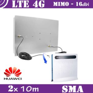 Kit LTE / 4G - Mimo Antenna 16dbi + 2x 10m cable - SMA
