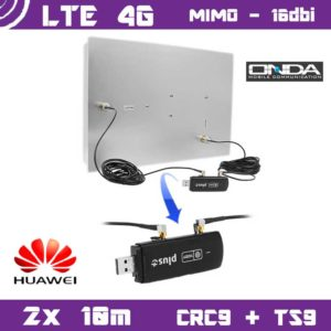 Kit LTE / 4G - Mimo Antenna 16dbi + 2x 10m cable + CRC9 / TS9