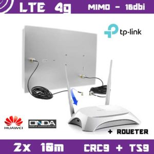 Kit LTE / 4G - Mimo Antenna 16dbi + 2x 10m cable + Router MR3420