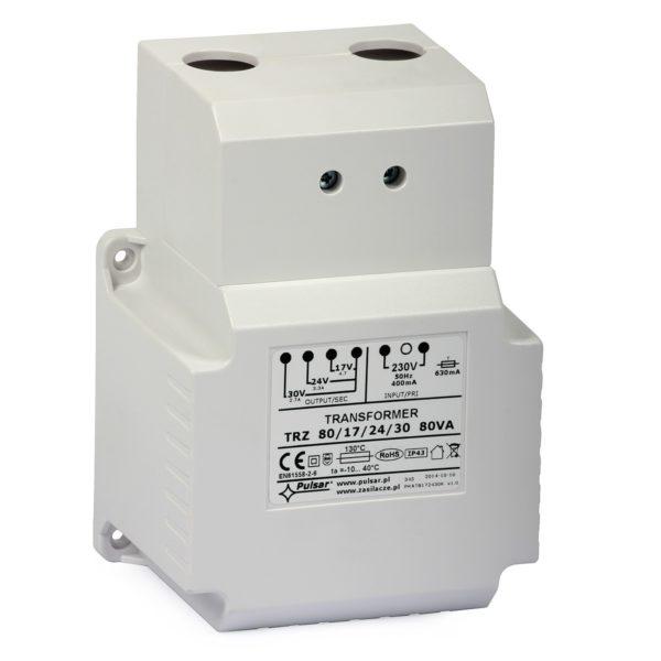 AC Transformer Pulsar AWT8172430 (230VAC/30-24-17VAC, 80VA) 1