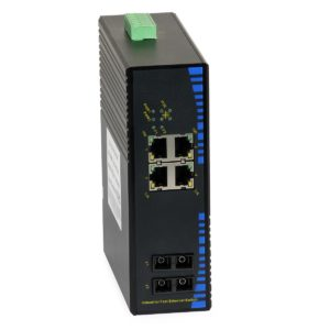 Industrial PoE Switch: ULTIPOWER 124P-4POE-20 (4xFE PoE, 2xFO SC, 100Mbps 20 km)