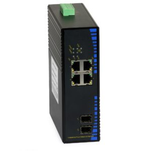 Industrial PoE Switch: ULTIPOWER 124SFP-4POE (4xFE PoE, 2xSFP, 100Mbps)