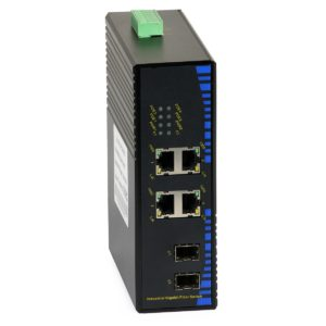 Industrial PoE Switch: ULTIPOWER 324SFP-POE (4xGE PoE, 2xSFP 1000Mbps)