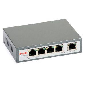 PoE Switch: ULTIPOWER 0054af (5xRJ45, 4xPoE 802.3af)