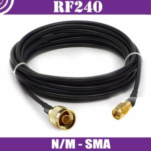 Patch cables N/m-SMA - RF240 - 50ohm