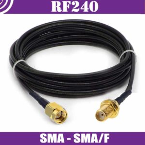 Patch cables N/m-SMA/f - RF240 - 50ohm