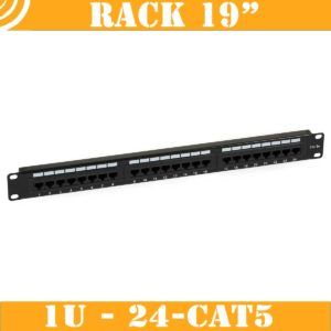 Patch Panel (1U, 24 CAT5 RJ45 ports)