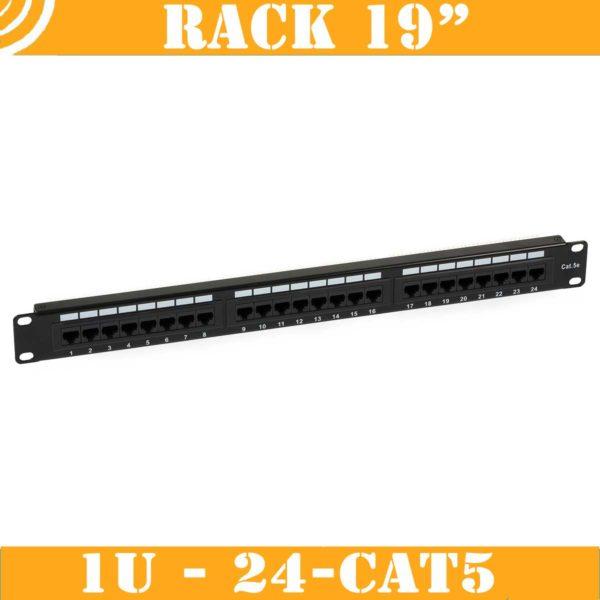 Patch Panel (1U, 24 CAT5 RJ45 ports) 2