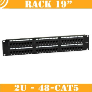 Patch Panel (2U, 48 CAT5 RJ45 ports)
