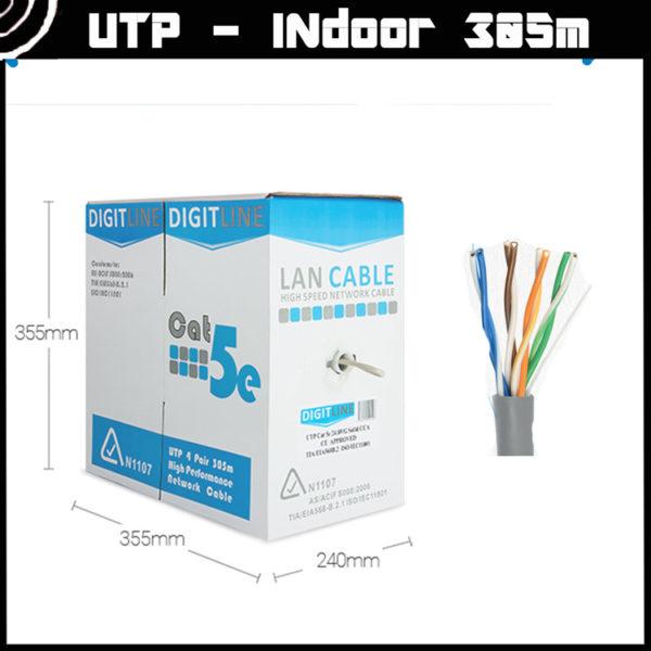 CAT 5 Cable: DigitLine BOX UTP 5 (Indoor) [305m] 2