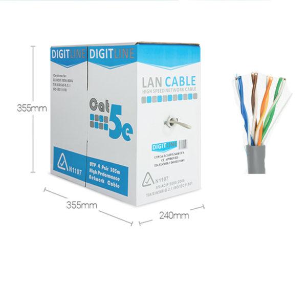 CAT 5 Cable: DigitLine BOX UTP 5 (Indoor) [305m] 1