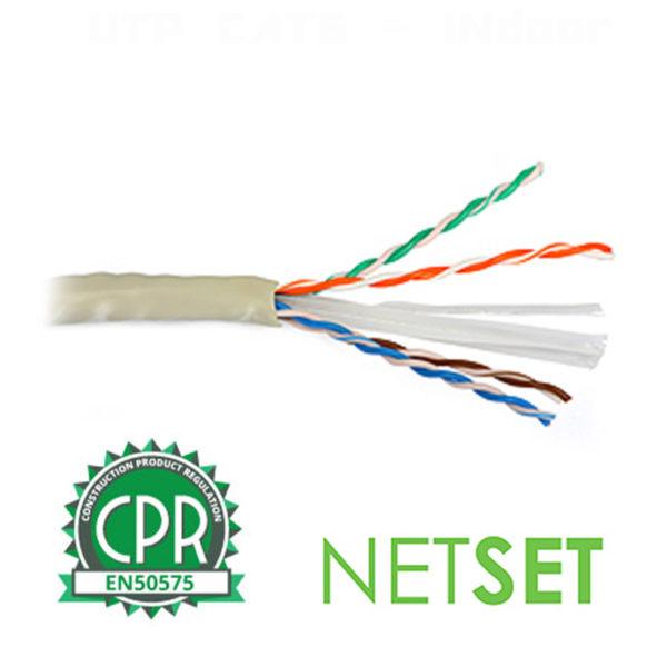 CAT 6 Cable: NETSET BOX U/UTP 6 (indoor) [1m] 1