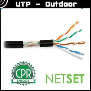 Cat 5e UTP Cable: NETSET U/UTP PE (outdoor) [1m]