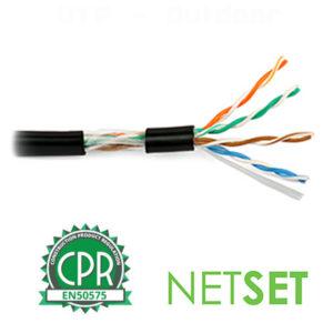 Cat 5e UTP Cable: NETSET U/UTP PE (outdoor) [1m]
