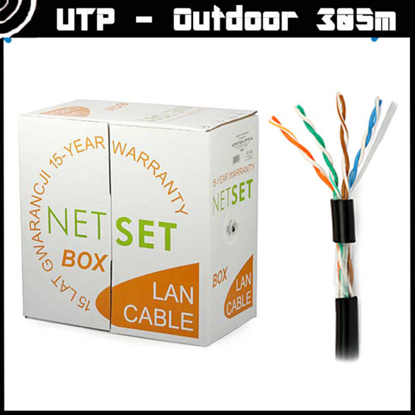 Cat 5e UTP Cable: NETSET U/UTP PE (outdoor) [305m] 2