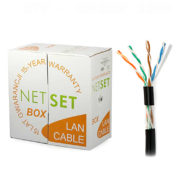 Cat 5e UTP Cable: NETSET U/UTP PE (outdoor) [305m]